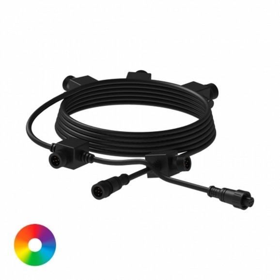 7.6M - 5 OUTLET COLOUR CHANGING LIGHT EXTENTION CABLE