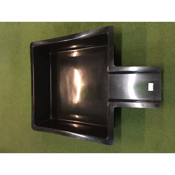 SQUARE POND WITH SPILL - BLACK - $235